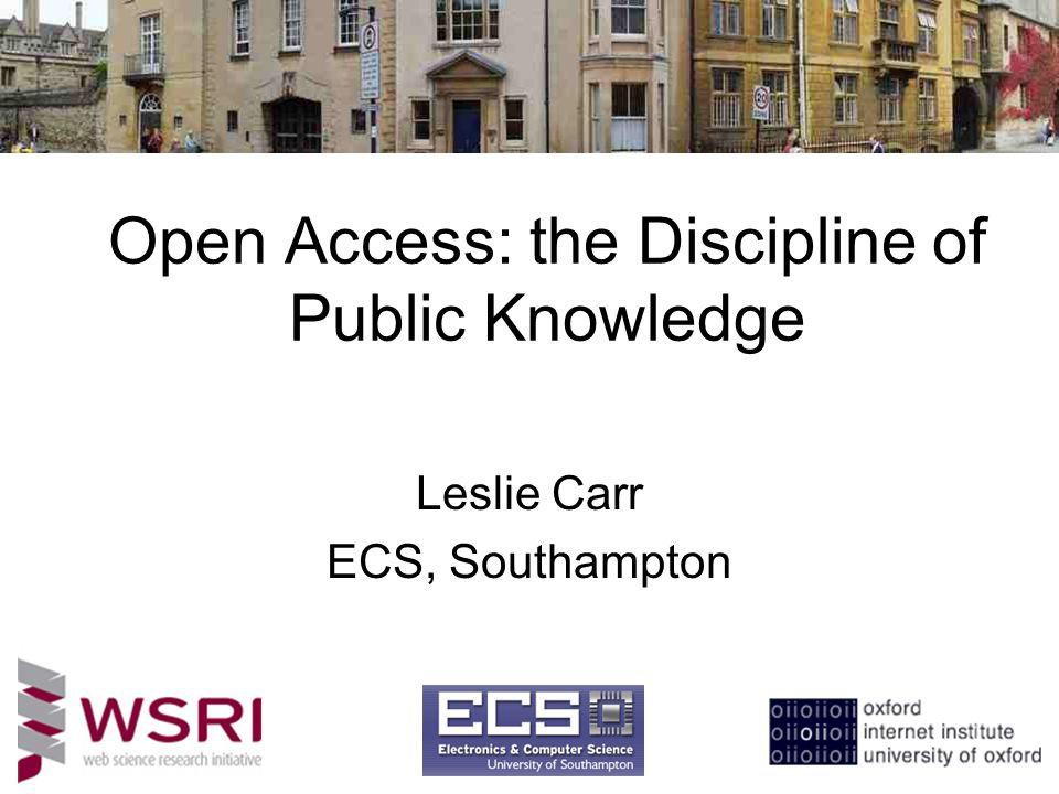 Open Access: the Discipline of Public Knowledge