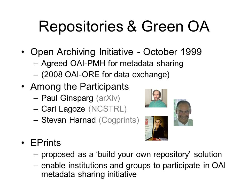 Repositories & Green OA