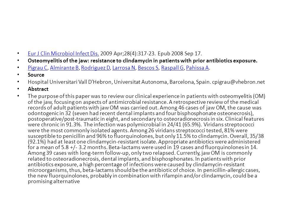 Eur J Clin Microbiol Infect Dis. 2009 Apr;28(4):317-23