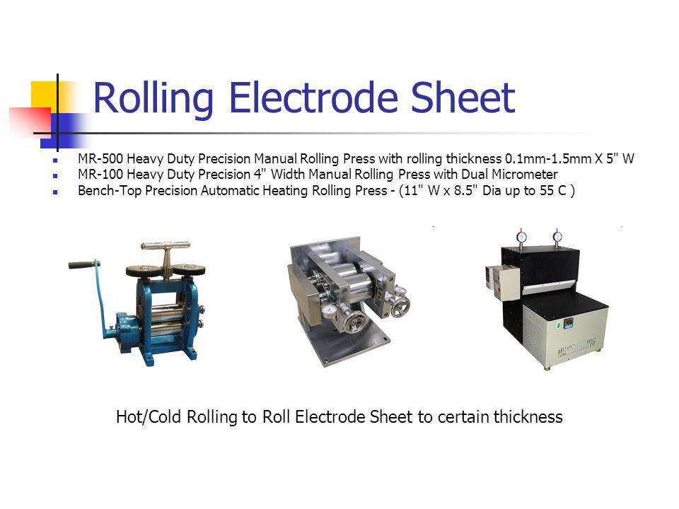 Rolling Electrode Sheet