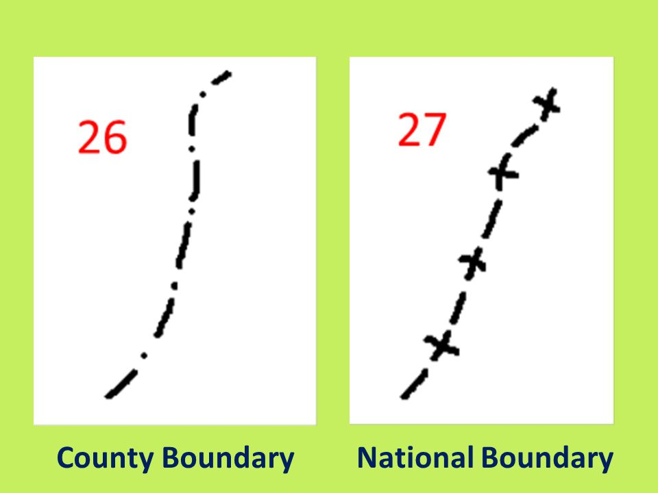 County Boundary National Boundary