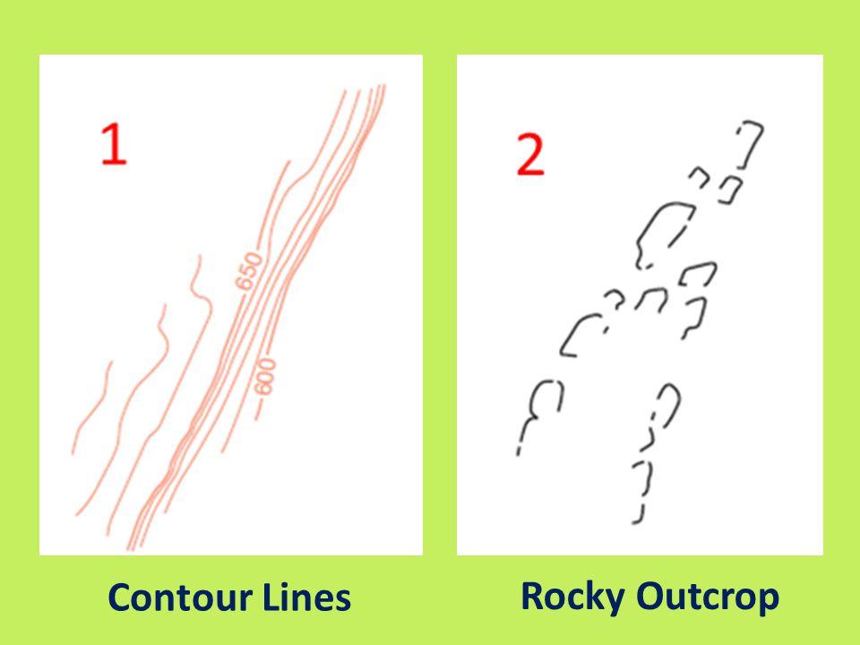 Contour Lines Rocky Outcrop