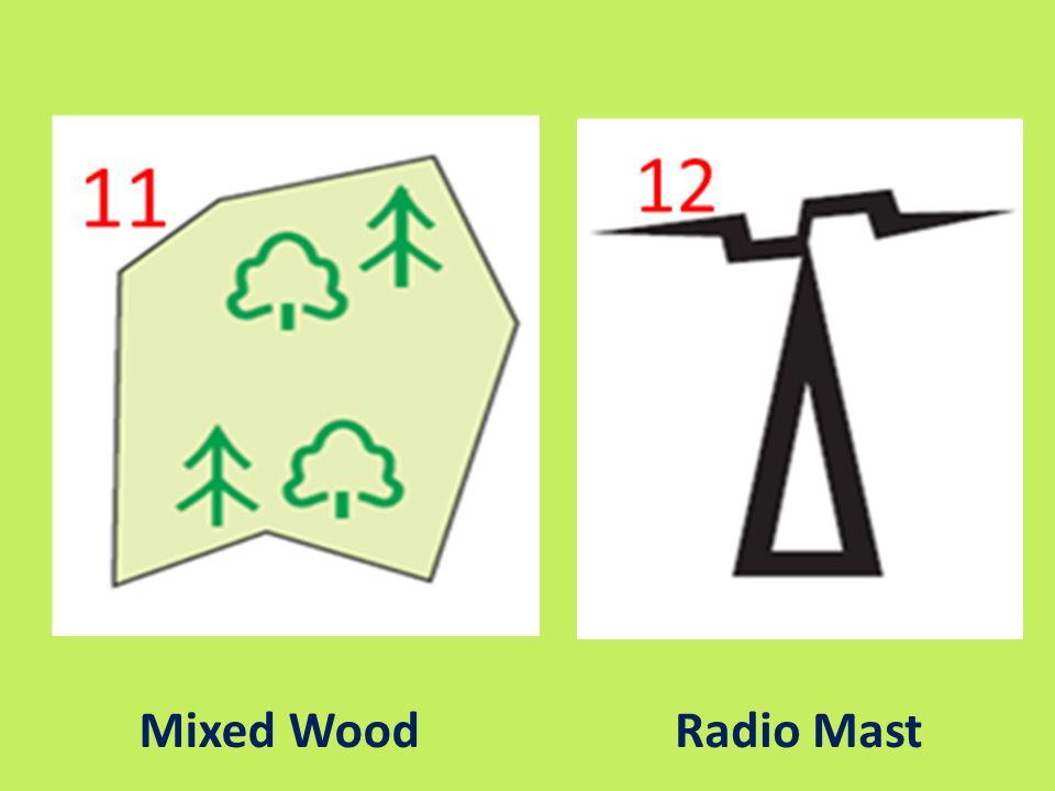 Mixed Wood Radio Mast