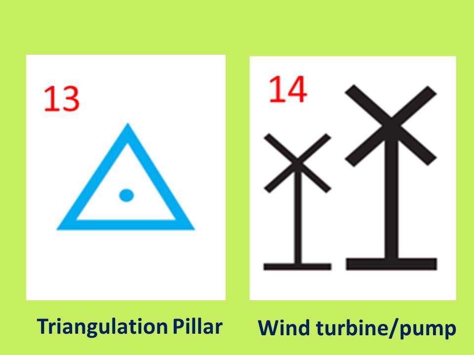 Triangulation Pillar Wind turbine/pump