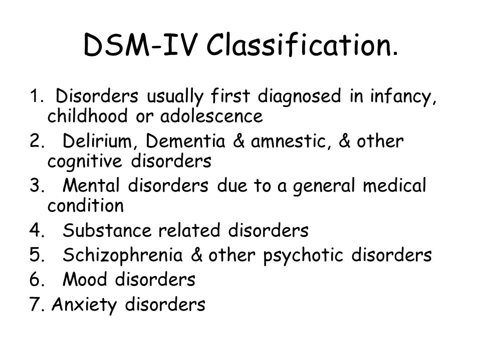 DSM-IV Classification.