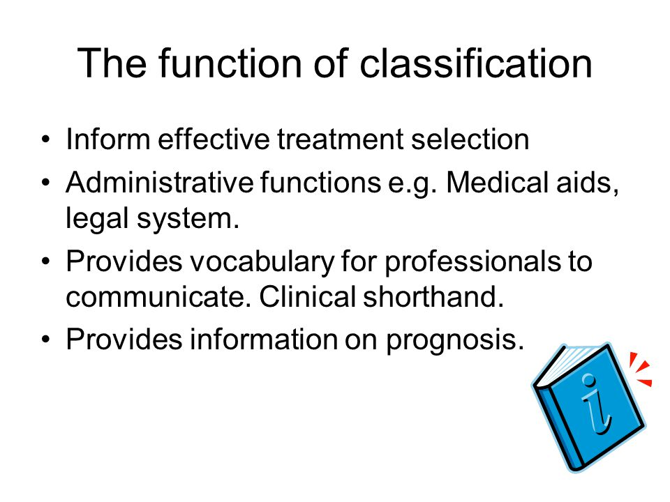 The function of classification