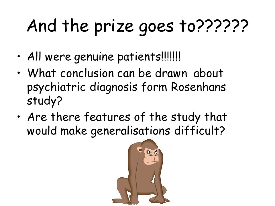 And the prize goes to All were genuine patients!!!!!!!