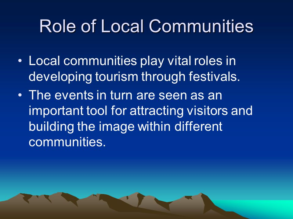 Role of Local Communities
