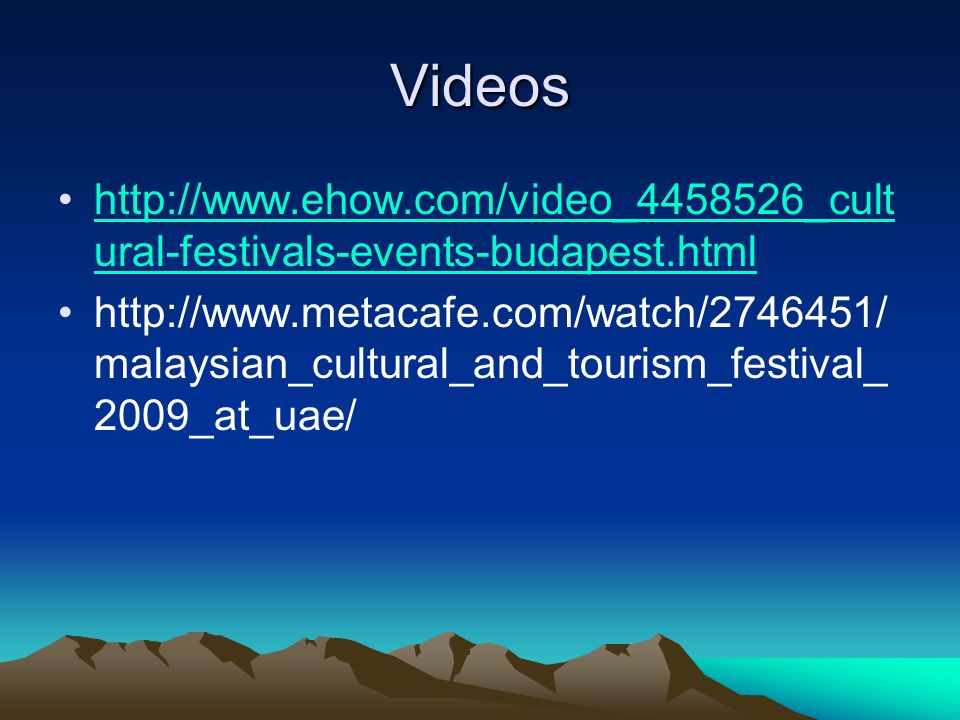 Videos http://www.ehow.com/video_4458526_cultural-festivals-events-budapest.html.