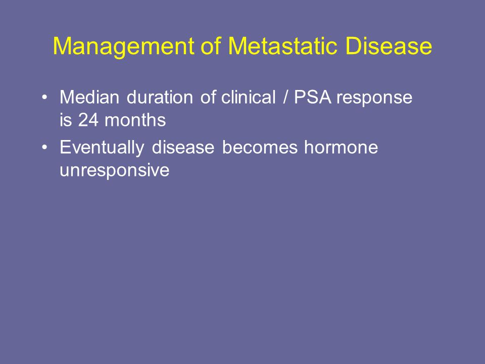 Management of Metastatic Disease