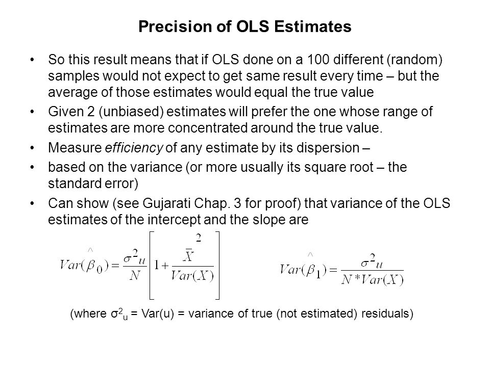 Precision of OLS Estimates