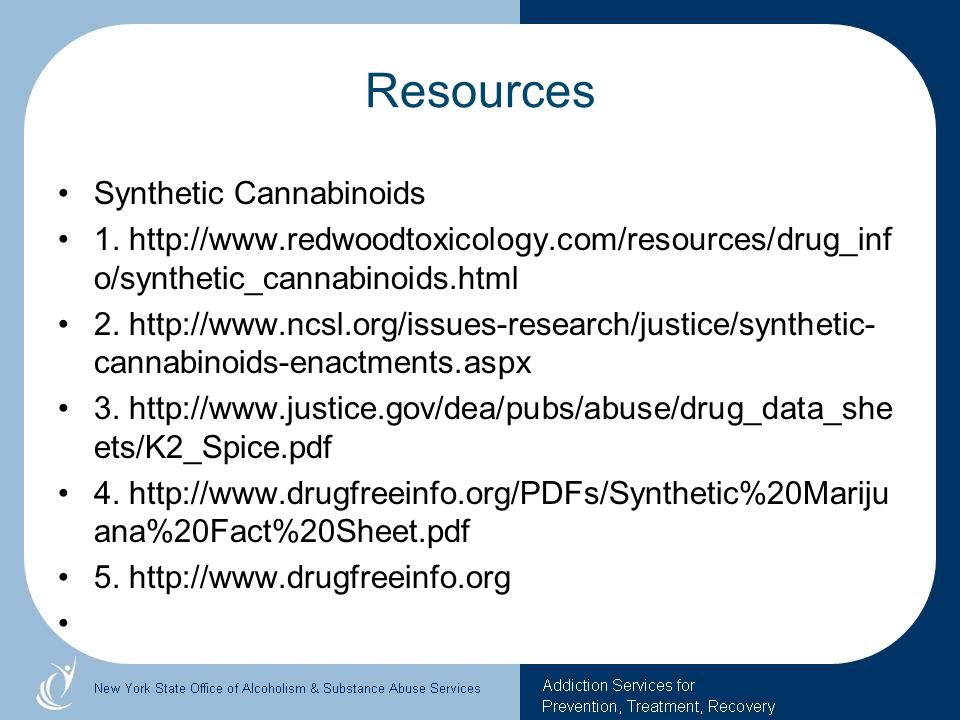 Resources Synthetic Cannabinoids