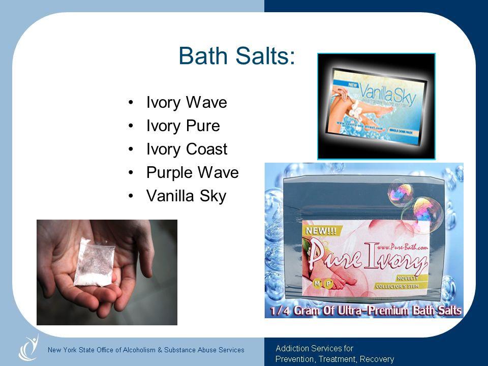 Bath Salts: Ivory Wave Ivory Pure Ivory Coast Purple Wave Vanilla Sky