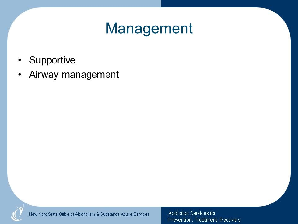 Management Supportive Airway management