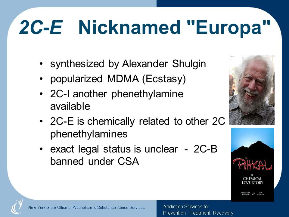 2C-E Nicknamed Europa synthesized by Alexander Shulgin