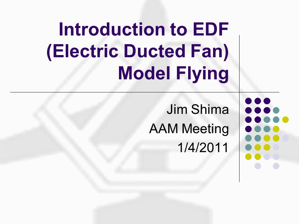 Introduction to EDF (Electric Ducted Fan) Model Flying