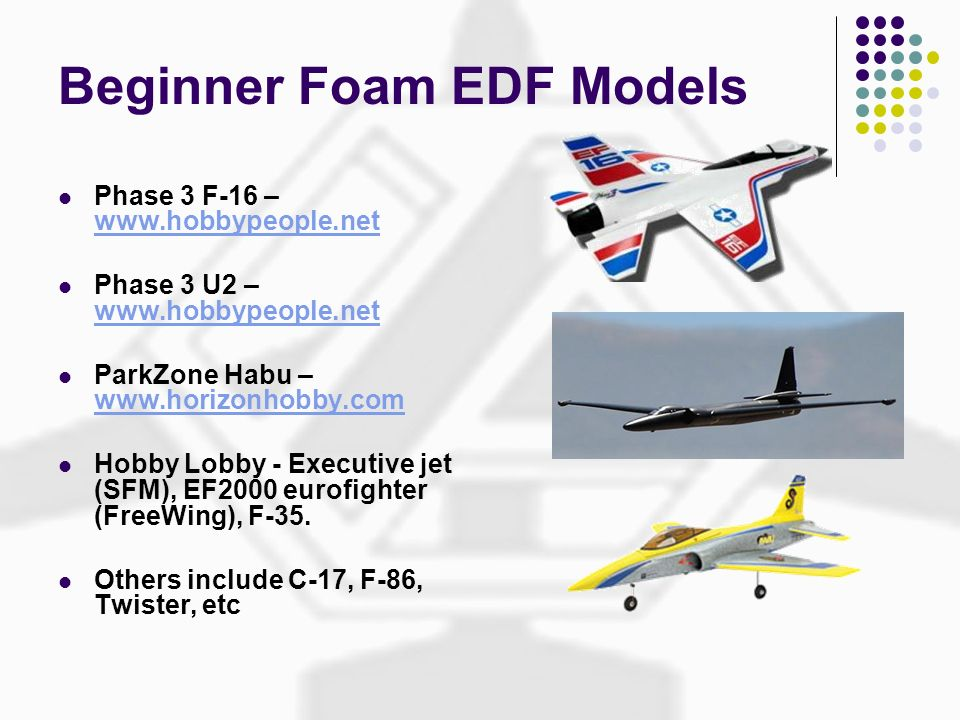 Beginner Foam EDF Models