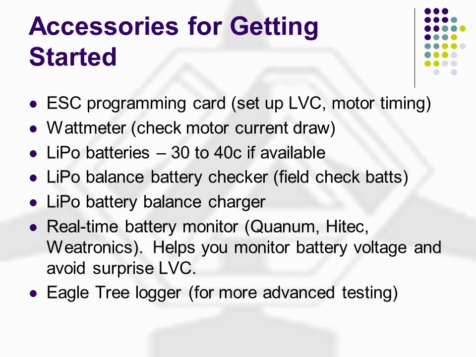 Accessories for Getting Started