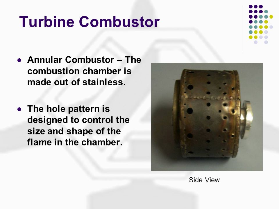 Turbine Combustor Annular Combustor – The combustion chamber is made out of stainless.