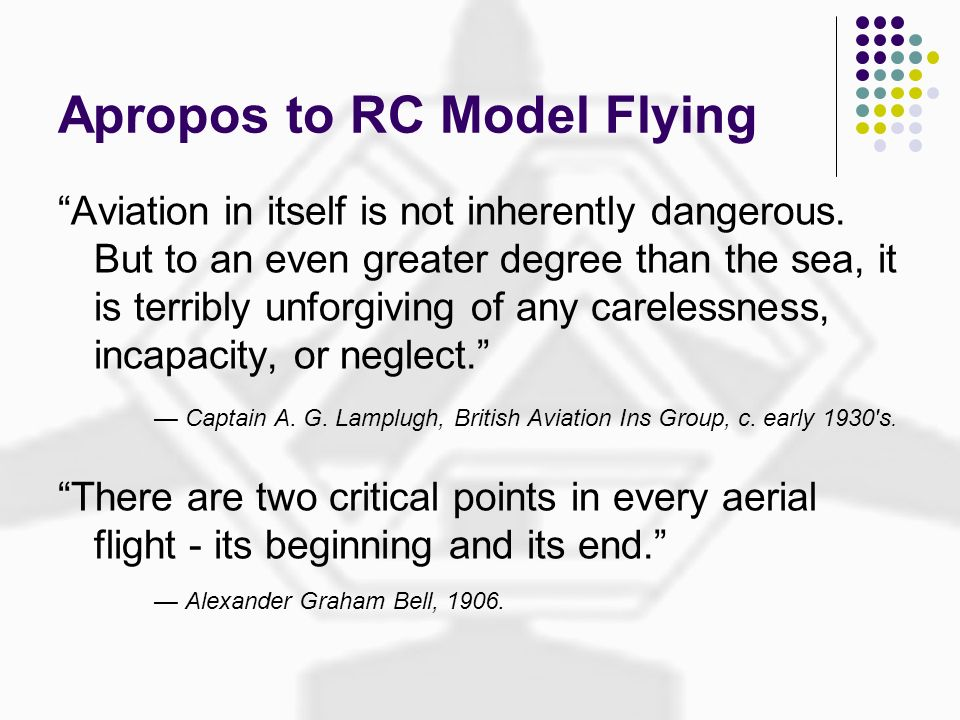 Apropos to RC Model Flying
