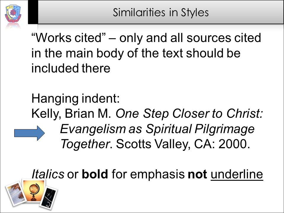 Similarities in Styles