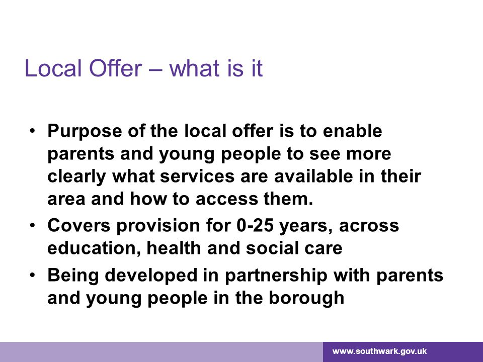 Local Offer – what is it