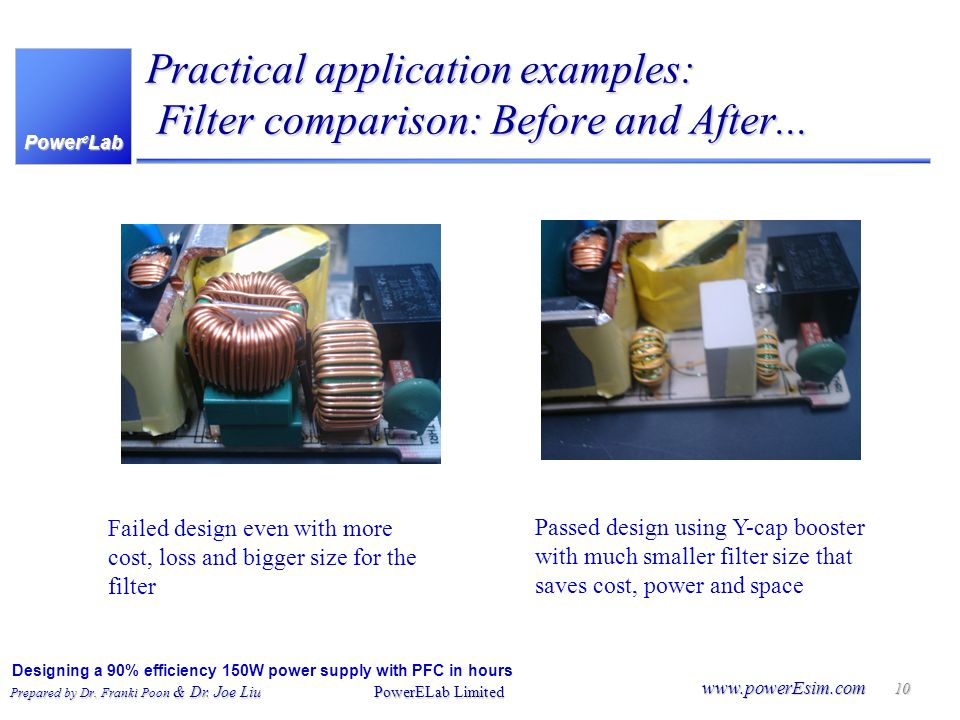 Practical application examples: Filter comparison: Before and After...