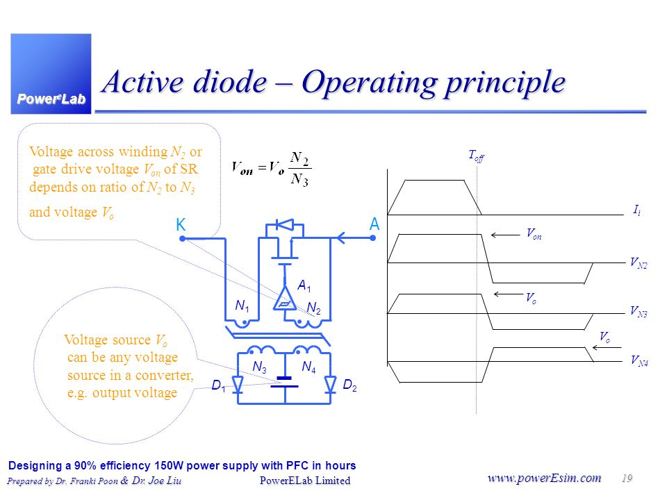 Active diode – Operating principle