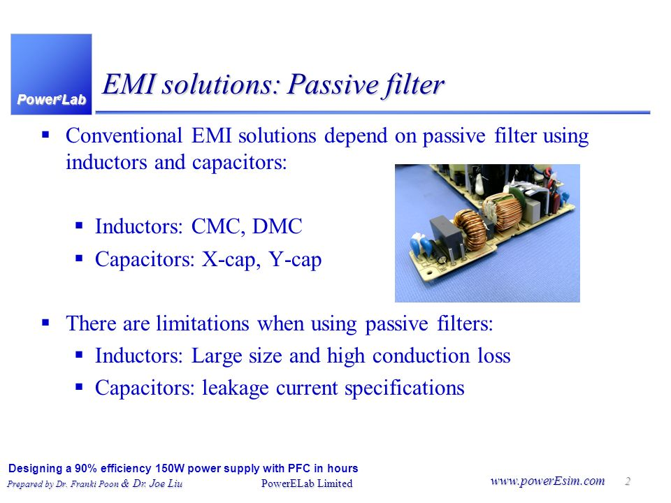 EMI solutions: Passive filter