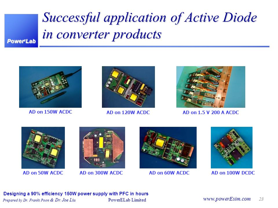 Successful application of Active Diode in converter products