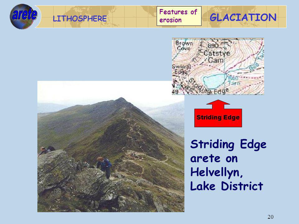 Striding Edge arete on Helvellyn, Lake District arete