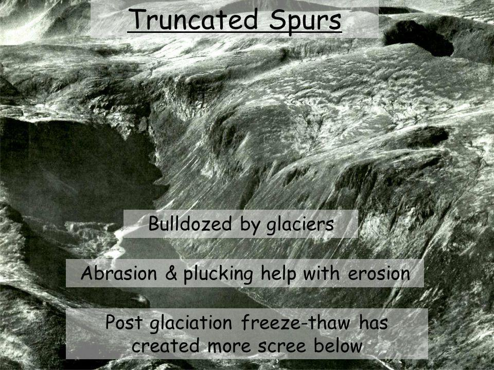Truncated Spurs Bulldozed by glaciers