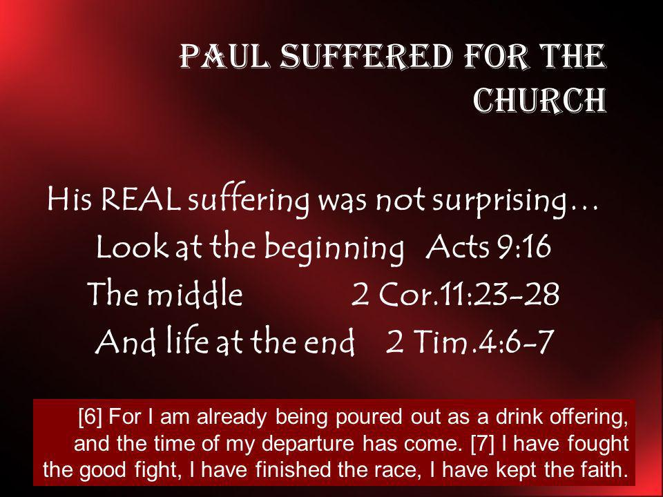 Paul Suffered for the church