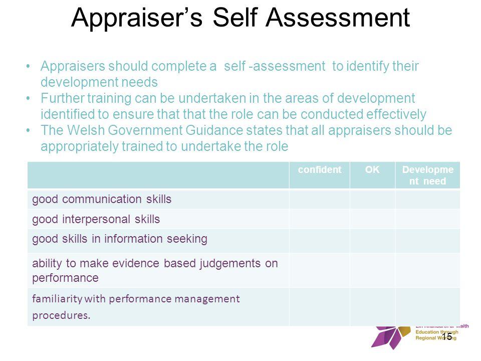 Appraiser's Self Assessment