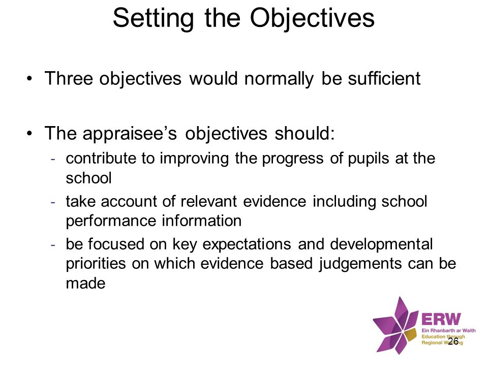 Setting the Objectives