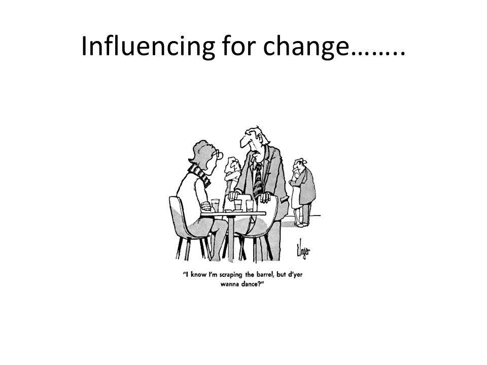 Influencing for change……..