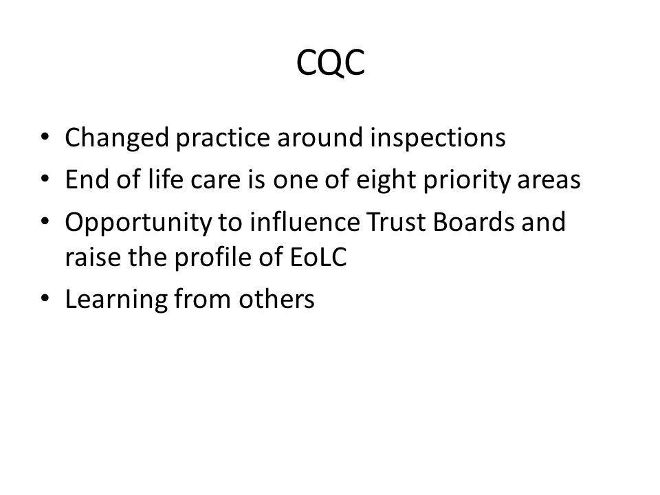 CQC Changed practice around inspections