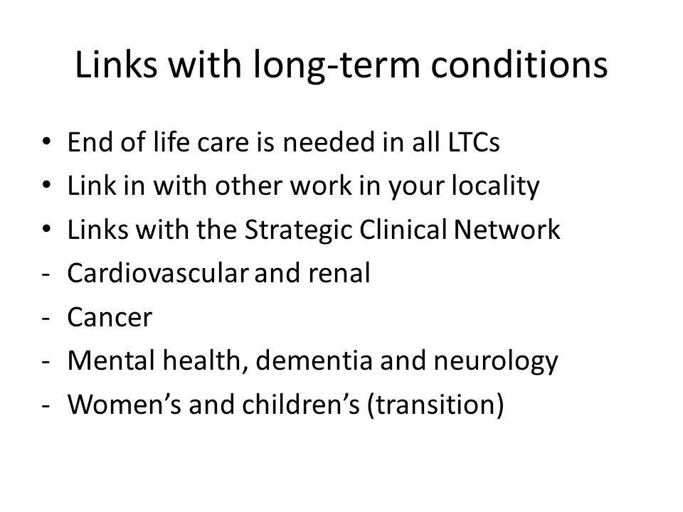 Links with long-term conditions