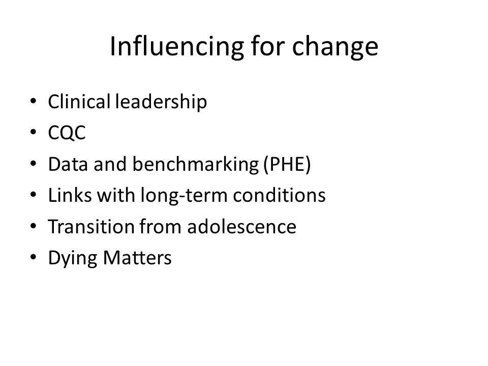 Influencing for change