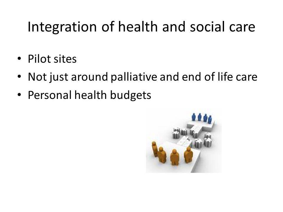 Integration of health and social care