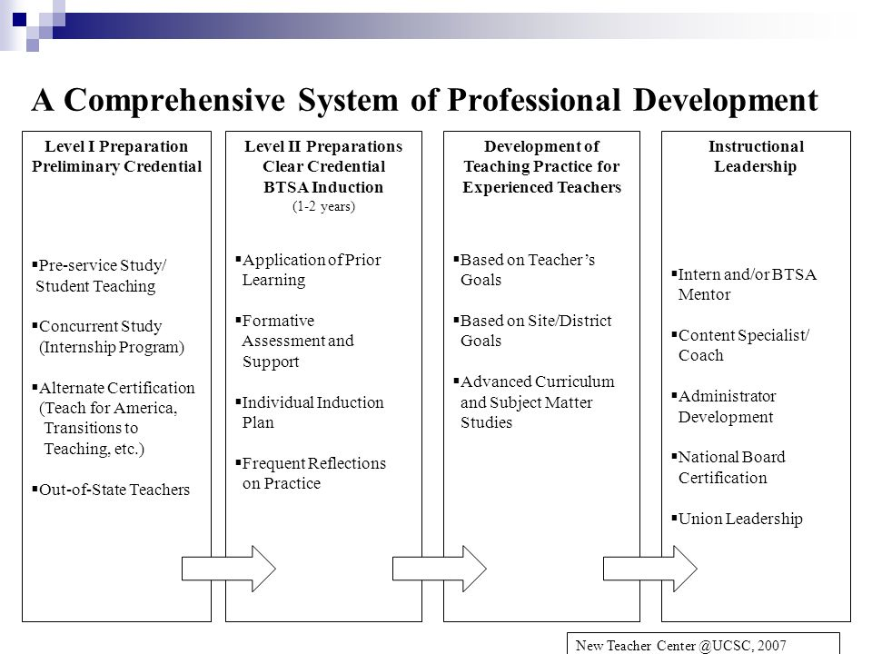 A Comprehensive System of Professional Development