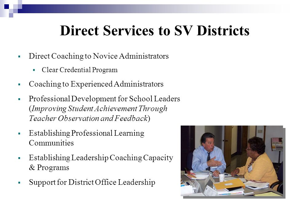 Direct Services to SV Districts