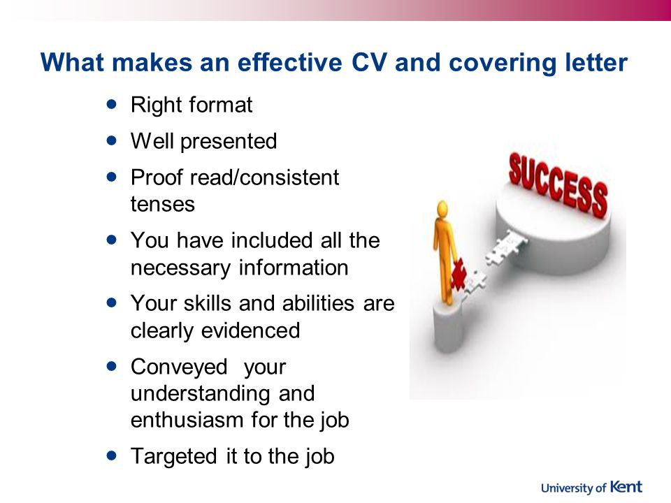 What makes an effective CV and covering letter