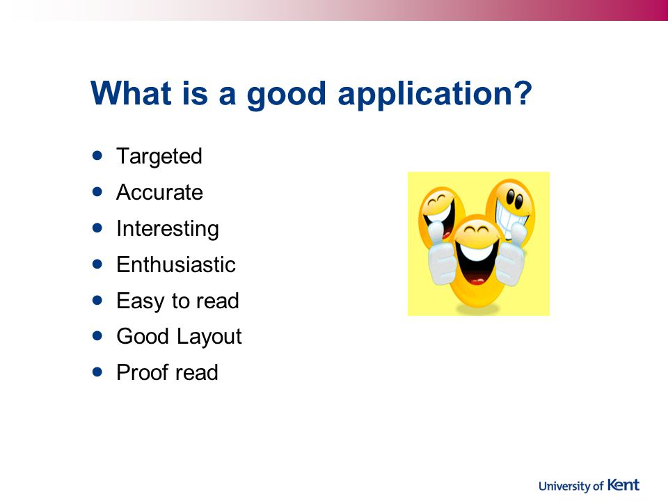 What is a good application