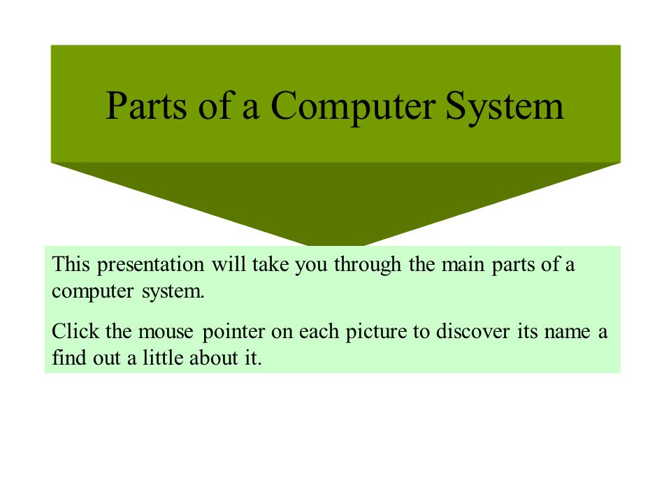 Parts of a Computer System