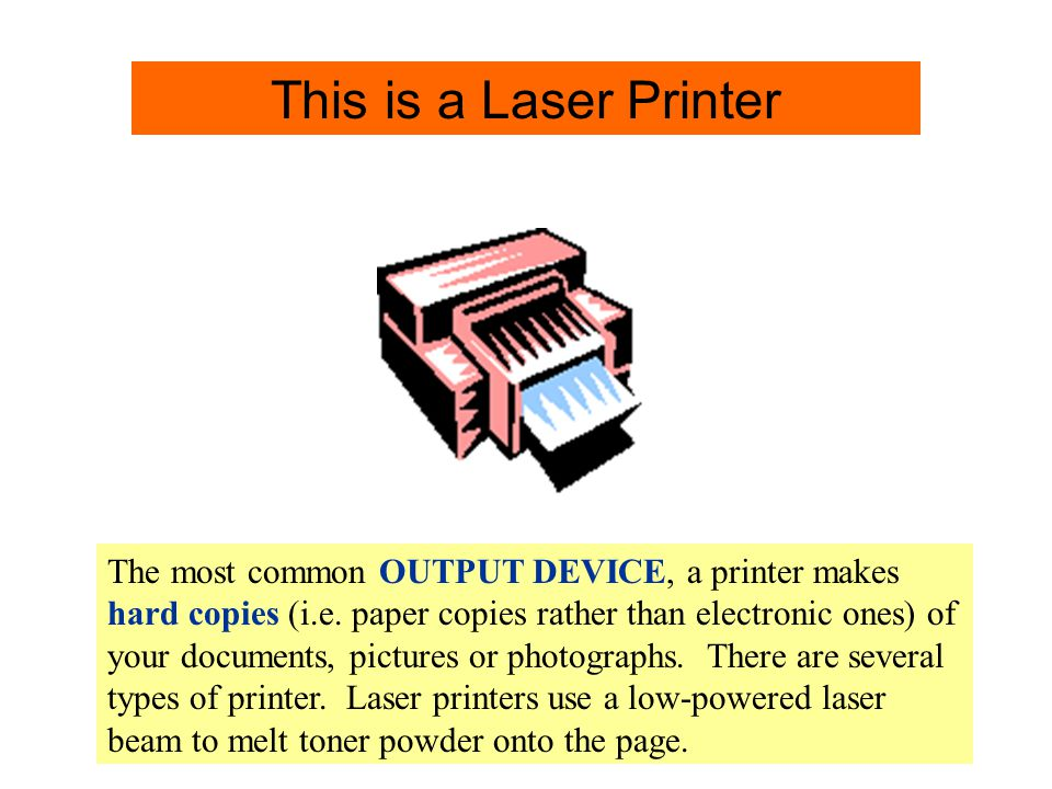 Printer Info. This is a Laser Printer