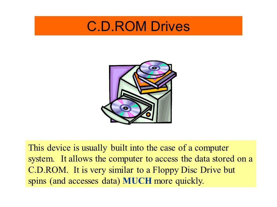 C.D.ROM Drive Info. C.D.ROM Drives
