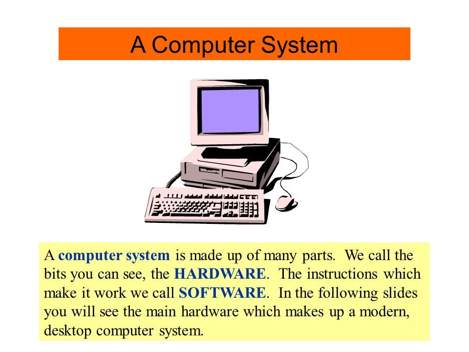 instructions to make a computer work