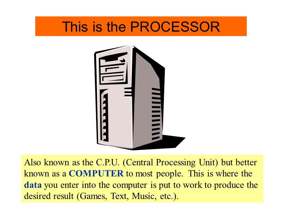 Processor Info. This is the PROCESSOR
