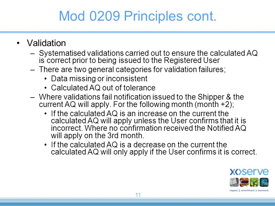 Mod 0209 Principles cont. Validation
